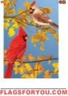 Autumn Melody Cardinal Bird Garden Flag - 4 left