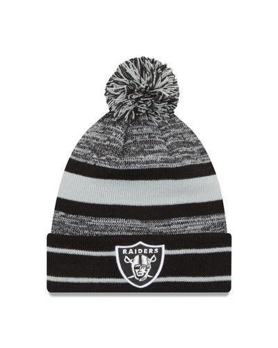 Oakland Raiders Beanie New Era Cuffed Knit with Pom