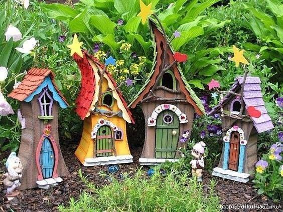 Миниатюрные домики в саду - идеи для вдохновения
