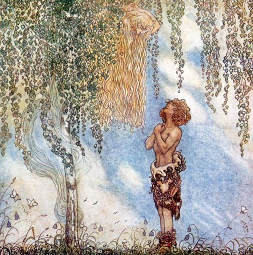 He Found Her Hiding In A Tree by John Bauer