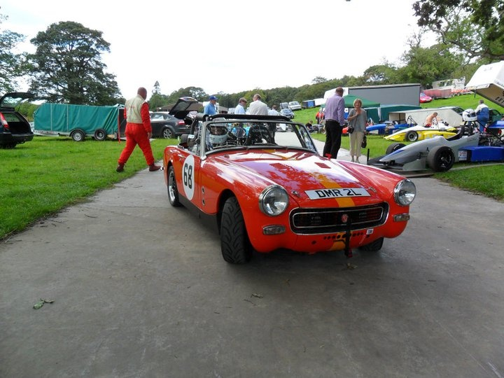 Heading for the line at Fintray Hillclimb.