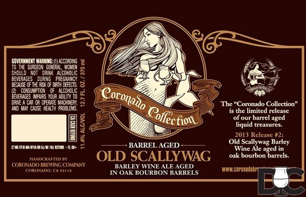 Coronado Brewing Barrel Aged Old Scallywag Barleywine - Drinking Craft #craftbeer #beer