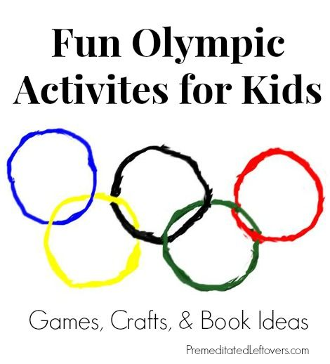 Winter Olympic activities for kids - including games, crafts, trivia, book ideas, and treats.