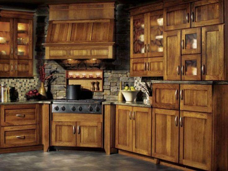 Rustikale küchenschränke ~ Die besten hickory küchenschränke ideen auf