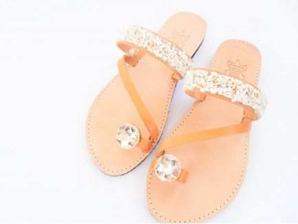 White Pebble Sandals