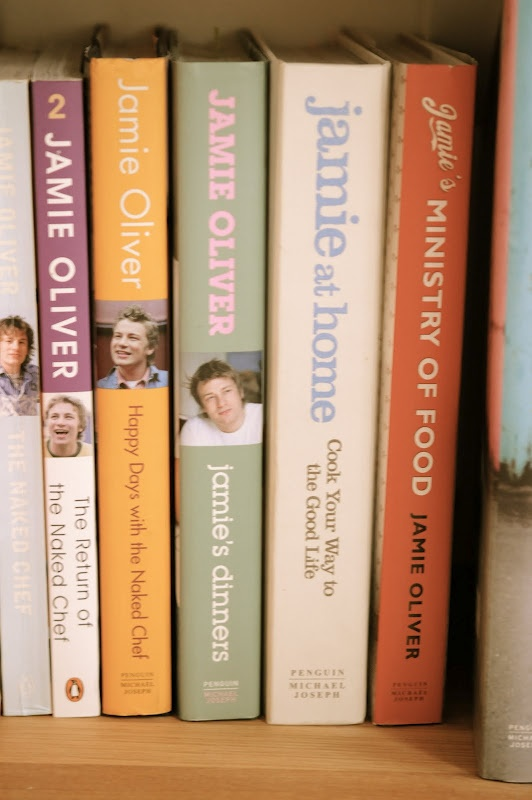 Cook Books and Jamie Oliver ❤ I'd love all of them, but especially Food Revolution