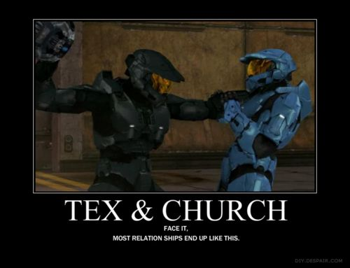 I didn't know whether to put this in OTP or Red vs Blue....well actually my OTP is York and Carolina but whatever