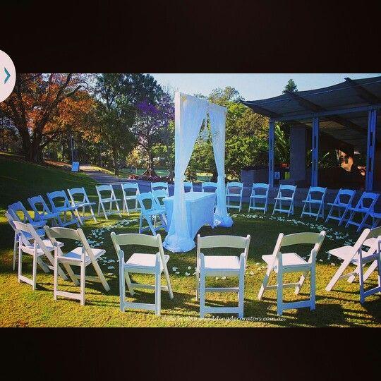 Brisbane Wedding Decorators intimate and romantic circular ceremony setup.   www.brisbaneweddingdecorators.com.au