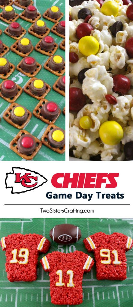 If you are a Kansas City Chiefs fan and it is Game Day, you'll want to make one (or all) of our Kansas City Chiefs Game Day Treats for your football watching family members. These are fun Red and Yellow football desserts that are perfect for a game day football party, an NFL playoff party or (hopefully!!!) a Super Bowl party. Follow us for more fun Super Bowl Food Ideas.
