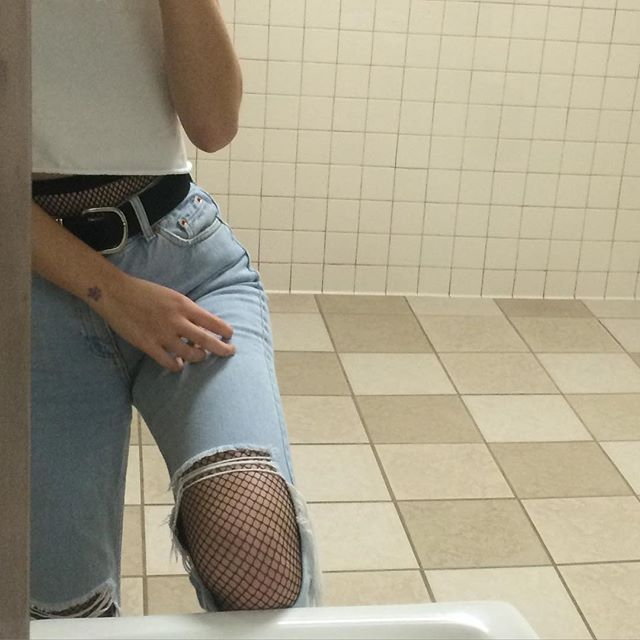 from when I wore fishnets under mom jeans as an act of rebellion