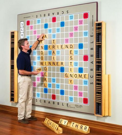 I want this!Scrabble Games, Ideas, Game Rooms, Scrabble Boards, Games Room, Boards Games, Gameroom, House, Games Night