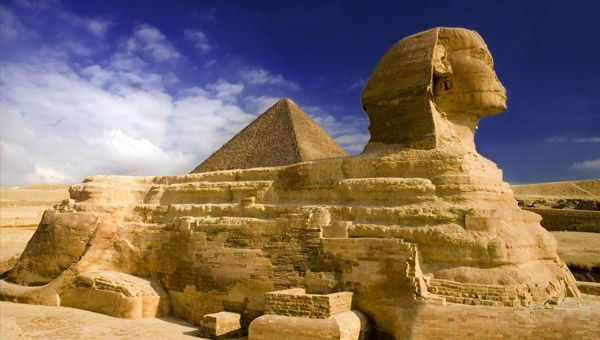 #Finnmatkat The great Sphinx & pyramids of Giza, Egypt