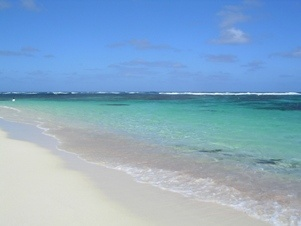 This scene of a beach in Marie-Galante has us dreaming of surf, sand, and a strong cocktail.