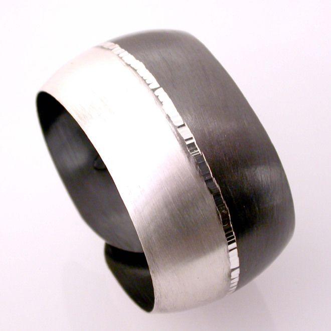 Bracciale schiava bicolore argento 925%