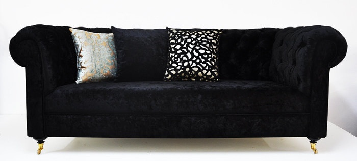 black velvet chesterfield sofa by namedesignstudio Things I Love! Pinterest Cats
