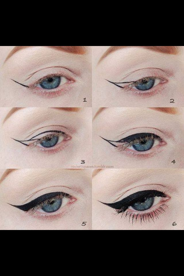Winged Eyeliner Tutorial Step By Step: 18 Best Images About Makeup On Pinterest