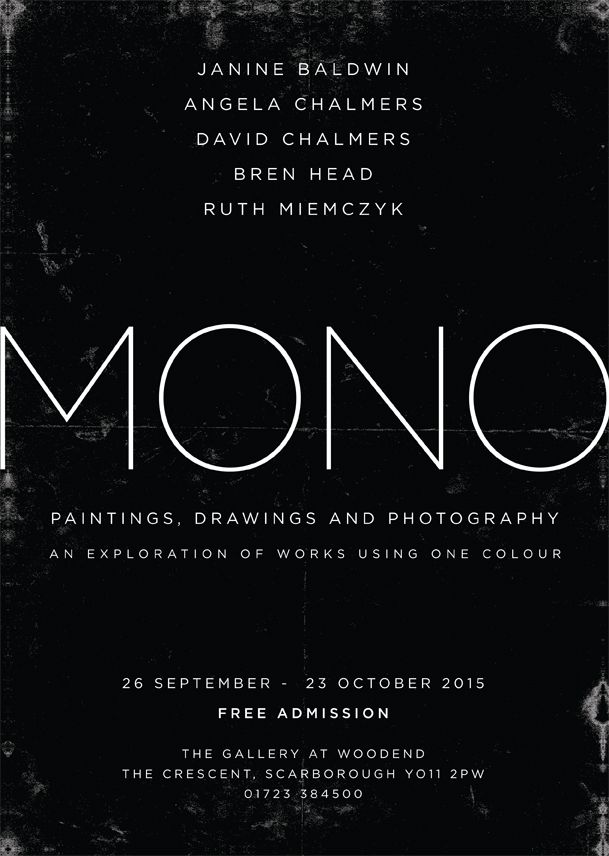 Catch our current exhibition, MONO, before it finishes this Friday at 5pm. FREE ENTRY