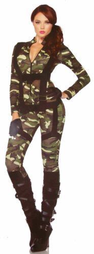 Leg Avenue Pretty Paratrooper Sexy Halloween Costume Cosplay Jumpsuit Harness