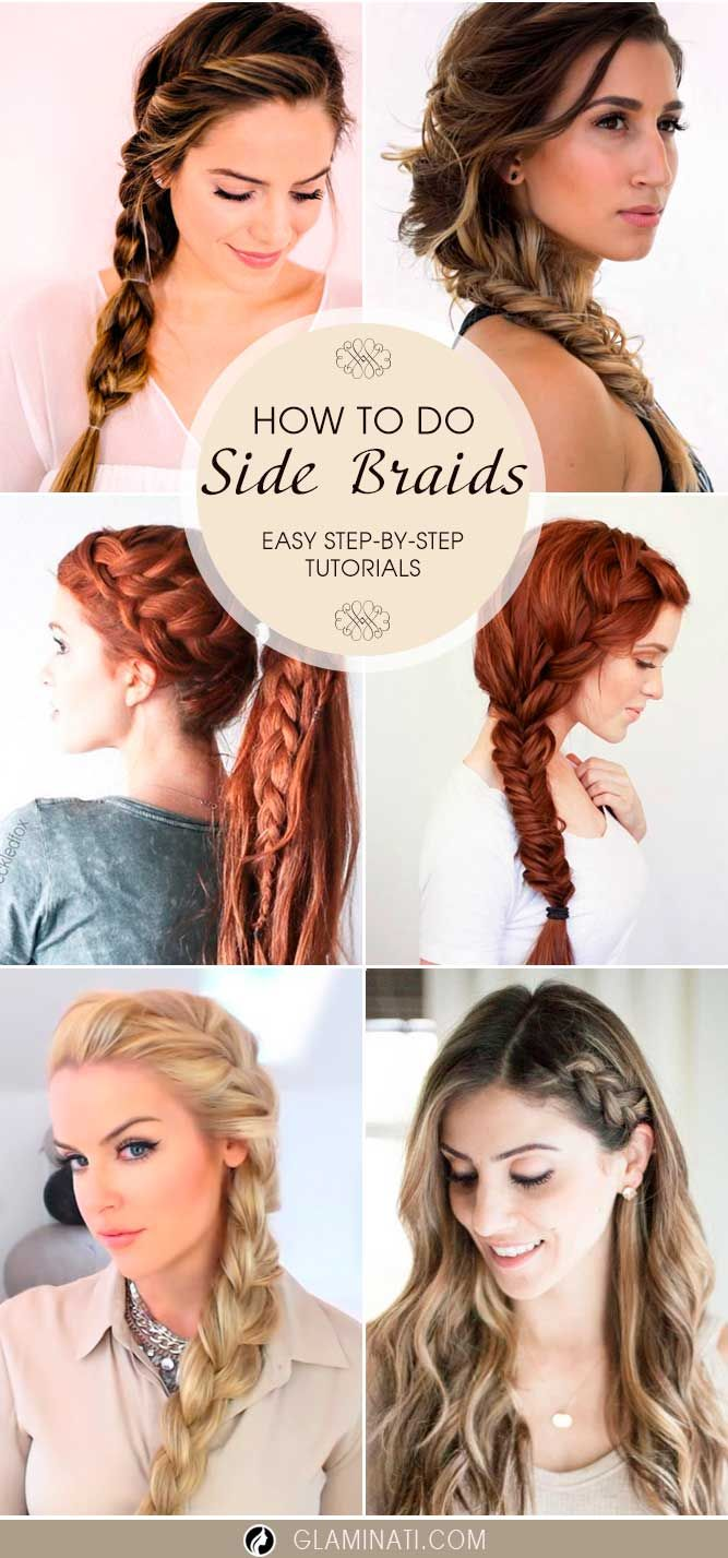 We believe that side braids look truly charming. We have easy tutorials that can teach you how to turn your hair into fab in less than half an hour.