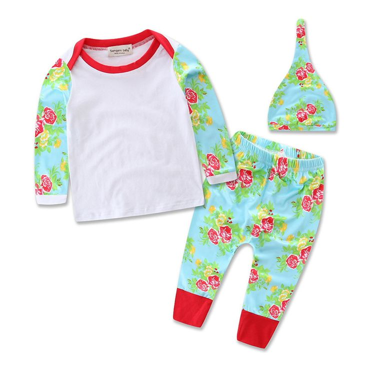http://babyclothes.fashiongarments.biz/  Infant Baby Girl Boy Clothese set 3pcs Long Sleeve T Shirt +Pants Leggings Hat baby Christmas Outfits Costume, http://babyclothes.fashiongarments.biz/products/infant-baby-girl-boy-clothese-set-3pcs-long-sleeve-t-shirt-pants-leggings-hat-baby-christmas-outfits-costume/,        								    										Cute 3pcs Newborn Baby Girls Floral Outfits Clothes!! 									 										High quality and Brand…