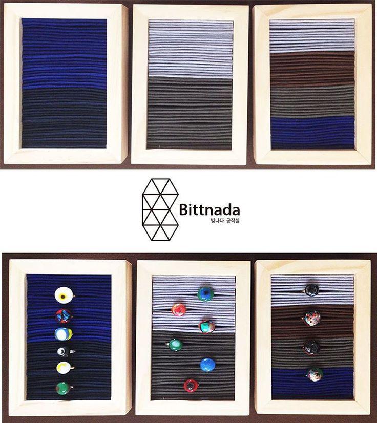 """""""디스플레이 하려고 만들었는데 작품같네 ㅋㅋㅋ#fusedglassring #ringdisplay#빛나다#bittnada"""""""