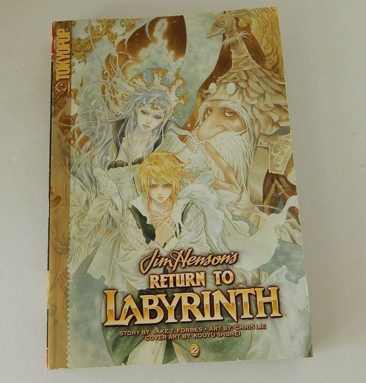 Jim Henson's Return To Labyrinth Vol 2 Tokyopop Manga Fantasy Graphic Novel Book