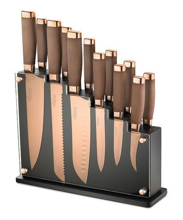 Look what I found on #zulily! Forte 13-Piece Magnetic Knife Block Set #zulilyfinds