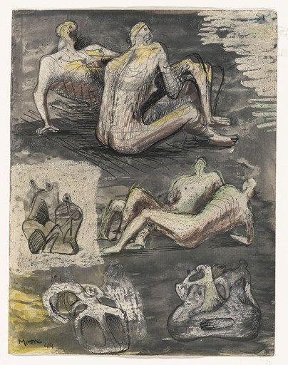 Henry Moore, Head sculpture.