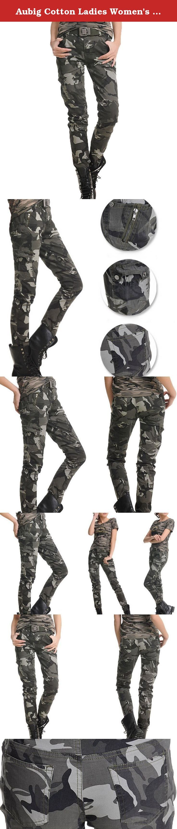 Aubig Cotton Ladies Women's Casual Outdoor Military Army Woodland Camouflage Slim Fit Stretch Jeans Pants Camo Trousers Overall Asian Size S. Features: Durable, comfortable and functional Can be used as sports or leisure wear Specifications: Material: Cotton blended Size: S Waist: 68cm/26.77inch Front Rise: 22cm/8.66inch Back Rise: 31.5cm/12.40inch Thigh: 50cm/19.69inch Hips: 86cm/33.85inch Leg Opening: 28cm/11.02inch Length: 99cm/38.98inch Color: Woodland Camouflage Notice: There might…
