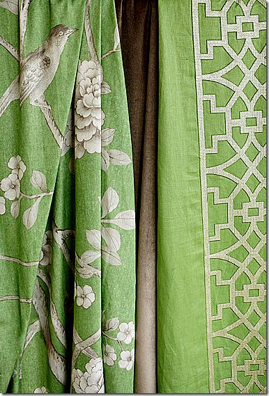 F Schumacher fabrics by Mary McDonald