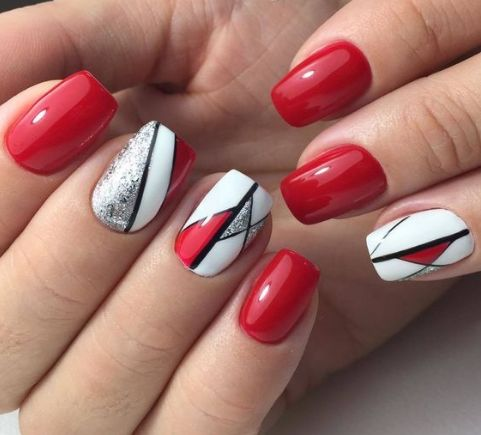 30 elegante rote Nageldesigns – Fingernägel
