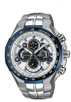 Casio - EF-554D-7AVEF - Montre Homme - Quartz - Analogique - Eclairage-Chronomètre - Bracelet Acier inoxydable Argent offres spéciales - casio quartz