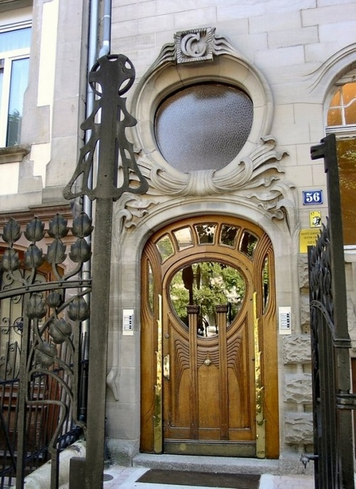 art nouveau allee de la robertsau ville roserale strasbourg france doors pinterest. Black Bedroom Furniture Sets. Home Design Ideas