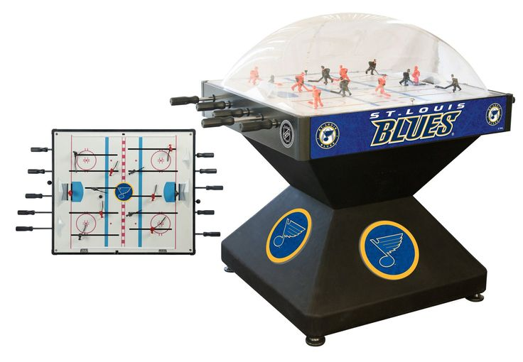 Custom Manufactured (availability) 2-3 Business Weeks (leaves warehouse) The St. Louis Blues NHL Deluxe Dome Hockey game provides hours of entertainment for a hockey fan of any level. Game is badged w