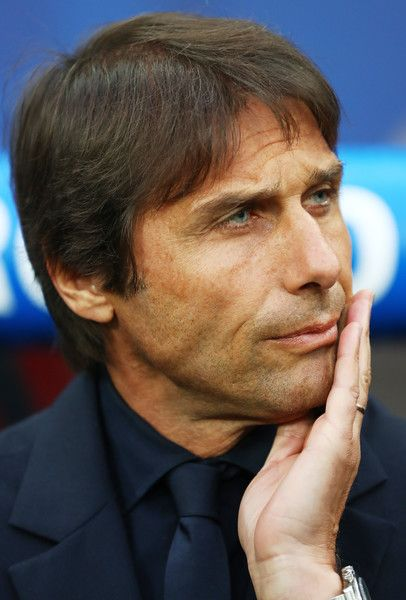 Antonio Conte head coach of Italy looks on prior to the UEFA EURO 2016 Group E match between Belgium and Italy at Stade des Lumieres on June 13, 2016 in Lyon, France.