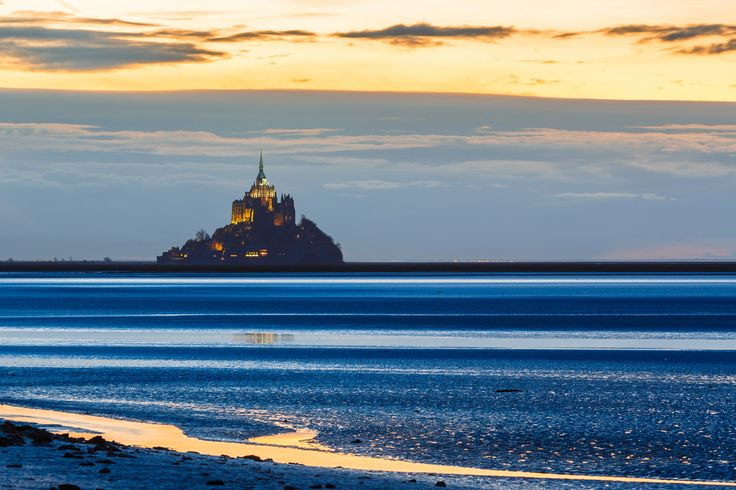 Mont Saint-Michel Bay at dusk