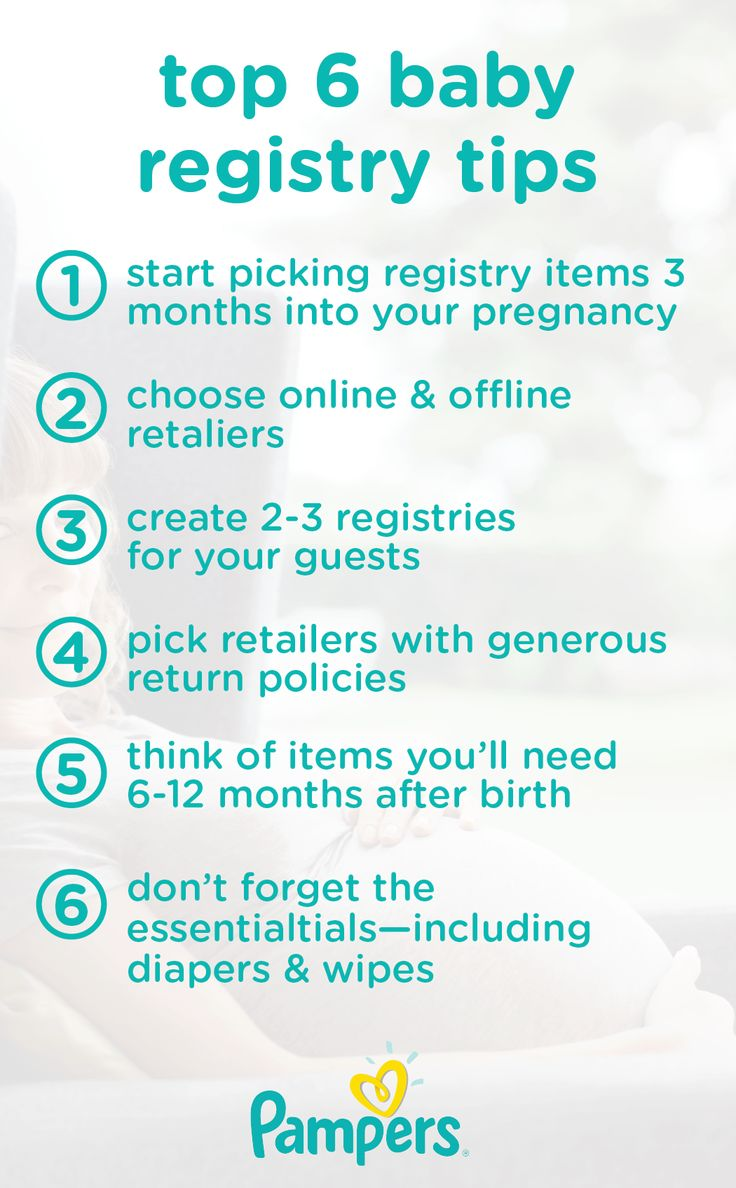 Setting up a registry for your shower with these top 6 baby registry tips is a great way to ensure you get the gear and essentials—like diapers, a crib, a stroller and a baby monitor—that your baby needs.