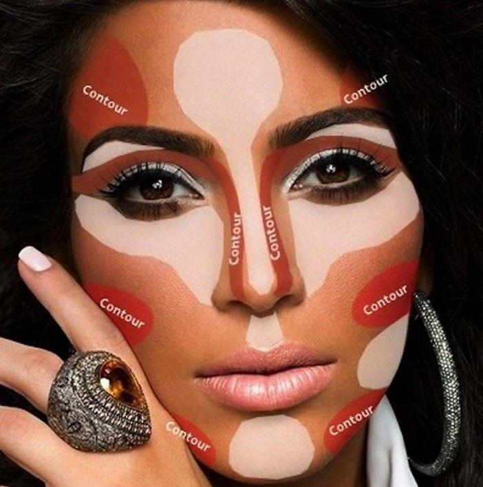 Contour Your Face Like Kim Kardashian
