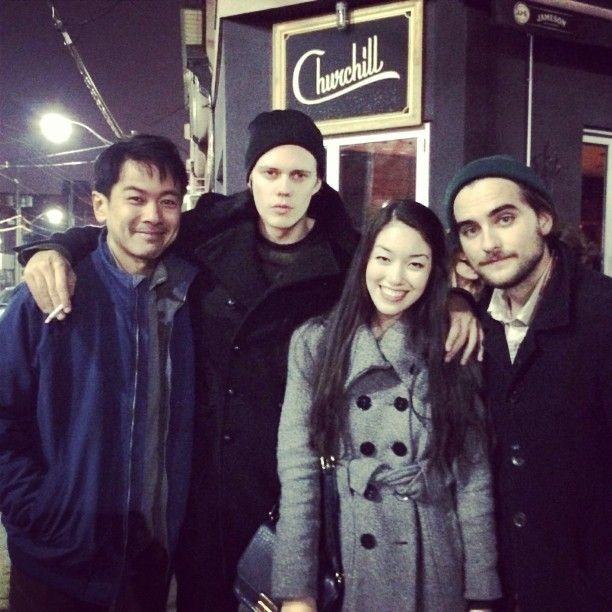chantalster:  ran into and awkwardly took a pic with the main dudes of #hemlockgrove! they are clearly super enthused
