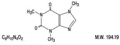 Caffeine structural formula illustration