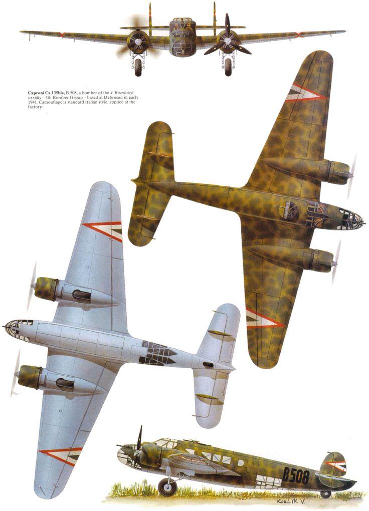Caproni Ca.135 - Aviazione ungherese