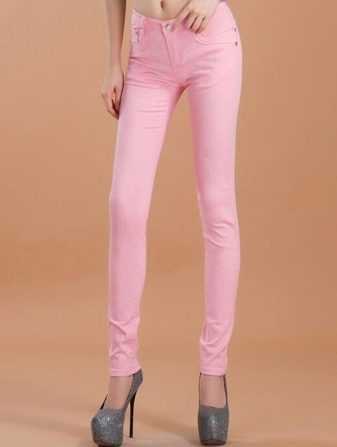 high waist jeans women fashion autumn style Casual Candy Color Pencil Legging Skinny Pants Trousers jeans for Women 2017 hot new-in Jeans from Women's Clothing & Accessories on Aliexpress.com | Alibaba Group