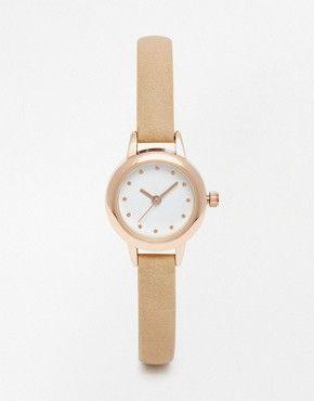 ASOS Skinny Strap Mini Dial Watch