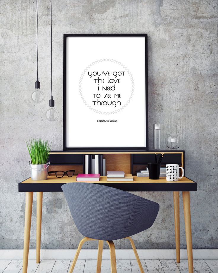 Printable Art Living Room Bedrrom Or Nursery Print See More 50 SALE Florence And The Machine Lyric Typography Inspiration Quote