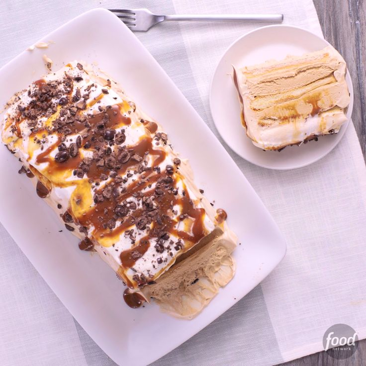 Recipe of the Day: Caramel Latte Icebox Cake  This caramel latte-inspired treat might look like it came from your favorite ice cream shop, but it's actually quite easy to make at home. Layer ladyfingers and espresso-spiked cream for a sweet cake that sets up in the fridge as it chills.