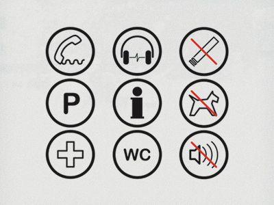 Signage Icons by Alex Boamfa