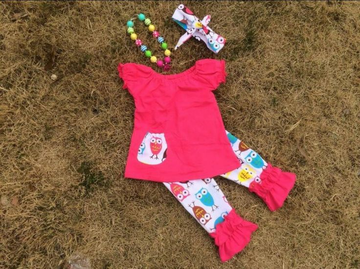 Owl Girls matching set with headband and necklace by PinkyPoshBoutique on Etsy