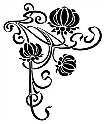 Motif No 81 stencil from The Stencil Library ART NOUVEAU range. Buy stencils online. Stencil code DE273.