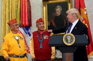Trump Calls Elizabeth Warren Pocahontas at Event Honoring Navajos