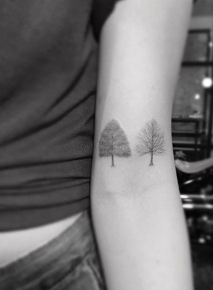 De primavera y de invierno árboles de arce por el doctor Woo